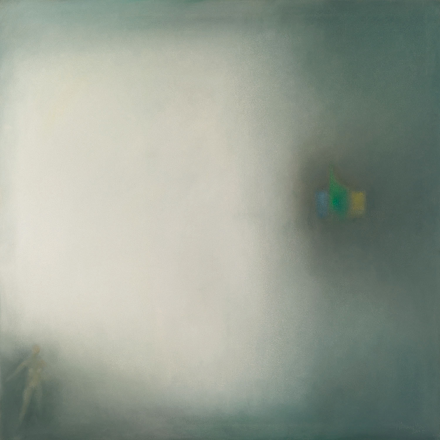 Atmosphere, 2004, oil on canvas, cm 130 x 130