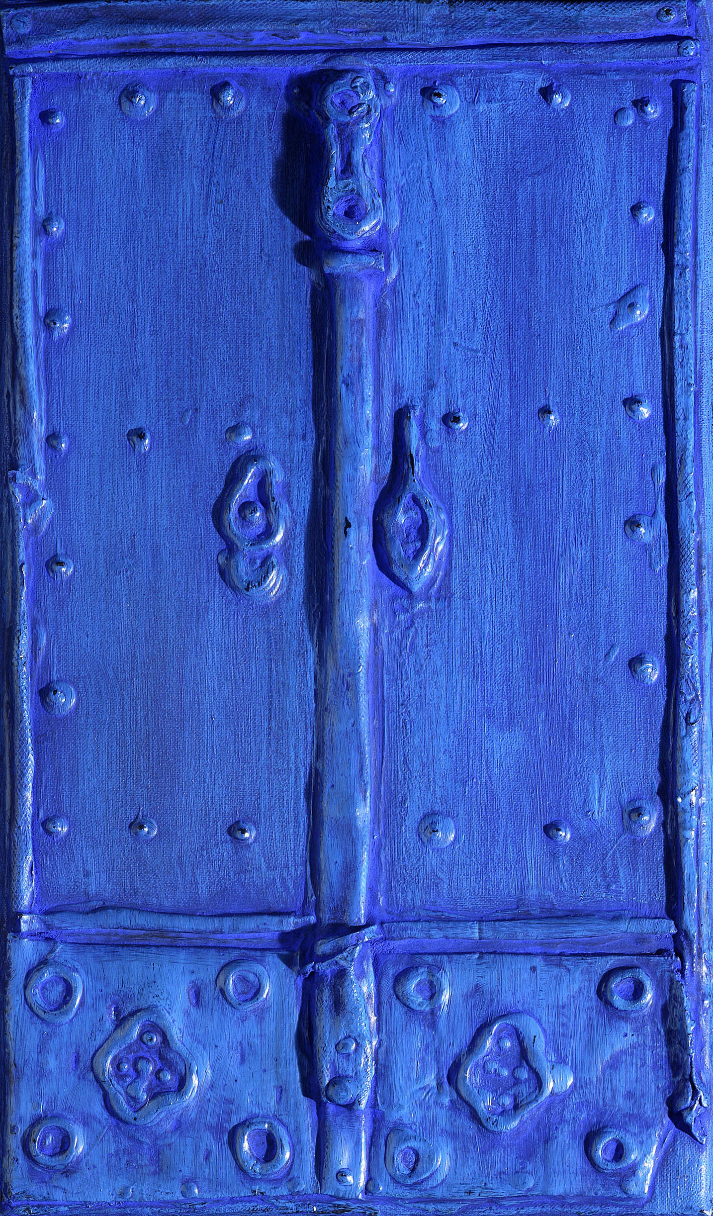 Door, 1960, mixed media on canvas, cm 21 x 16