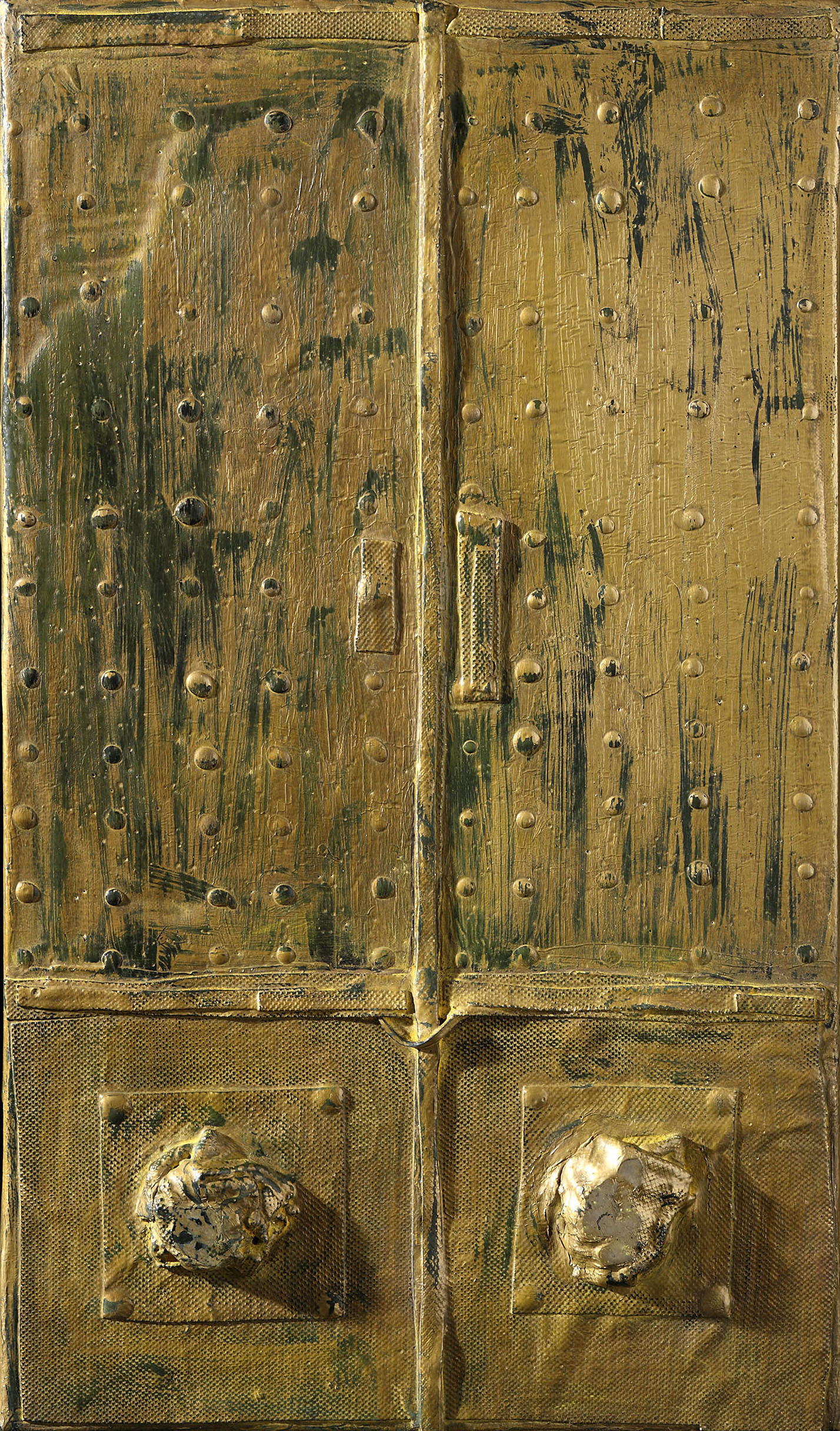 Door, 1960, mixed media on canvas, cm 55 x 38