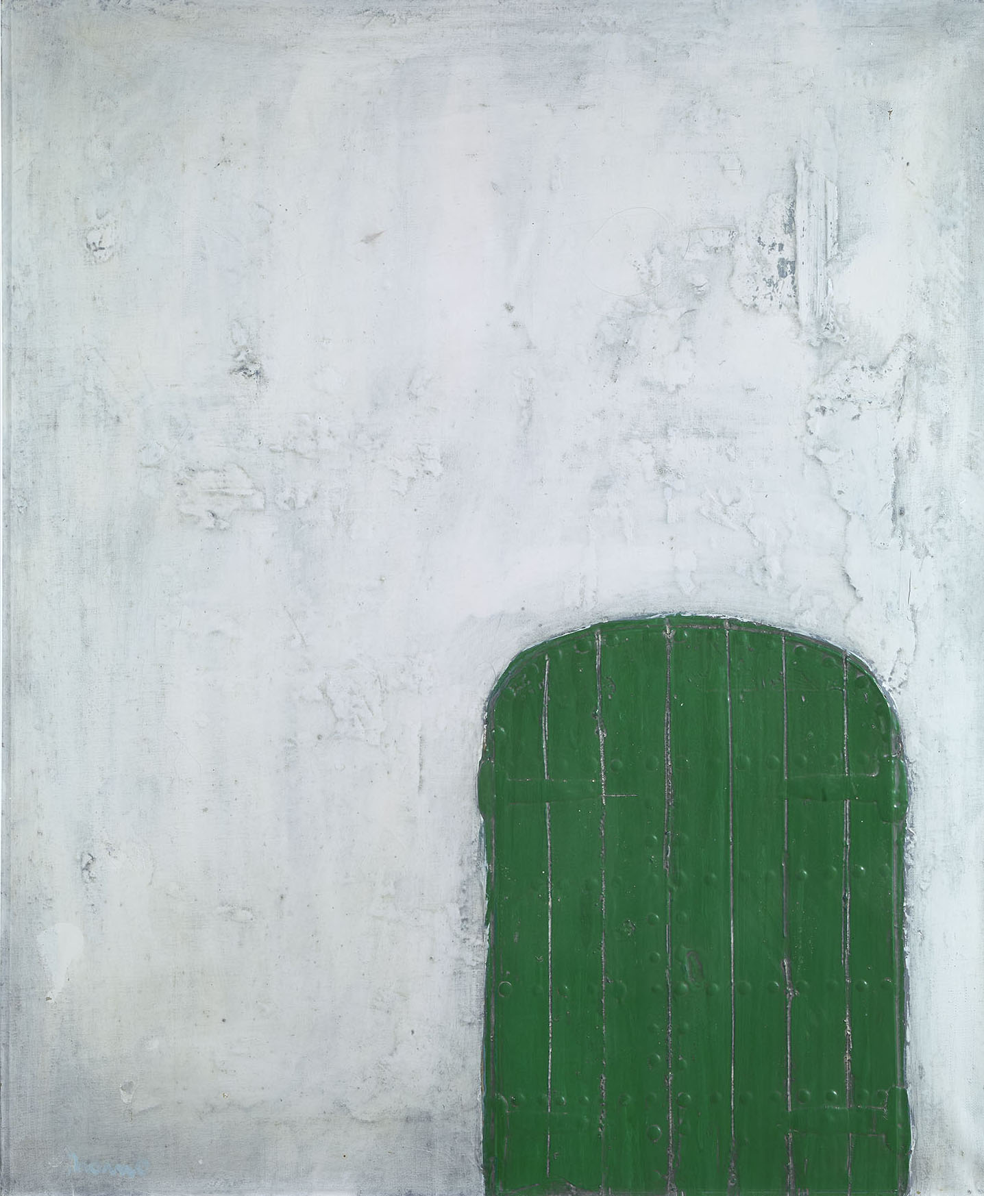 Door, 1960, mixed media on canvas, cm 72 x 59