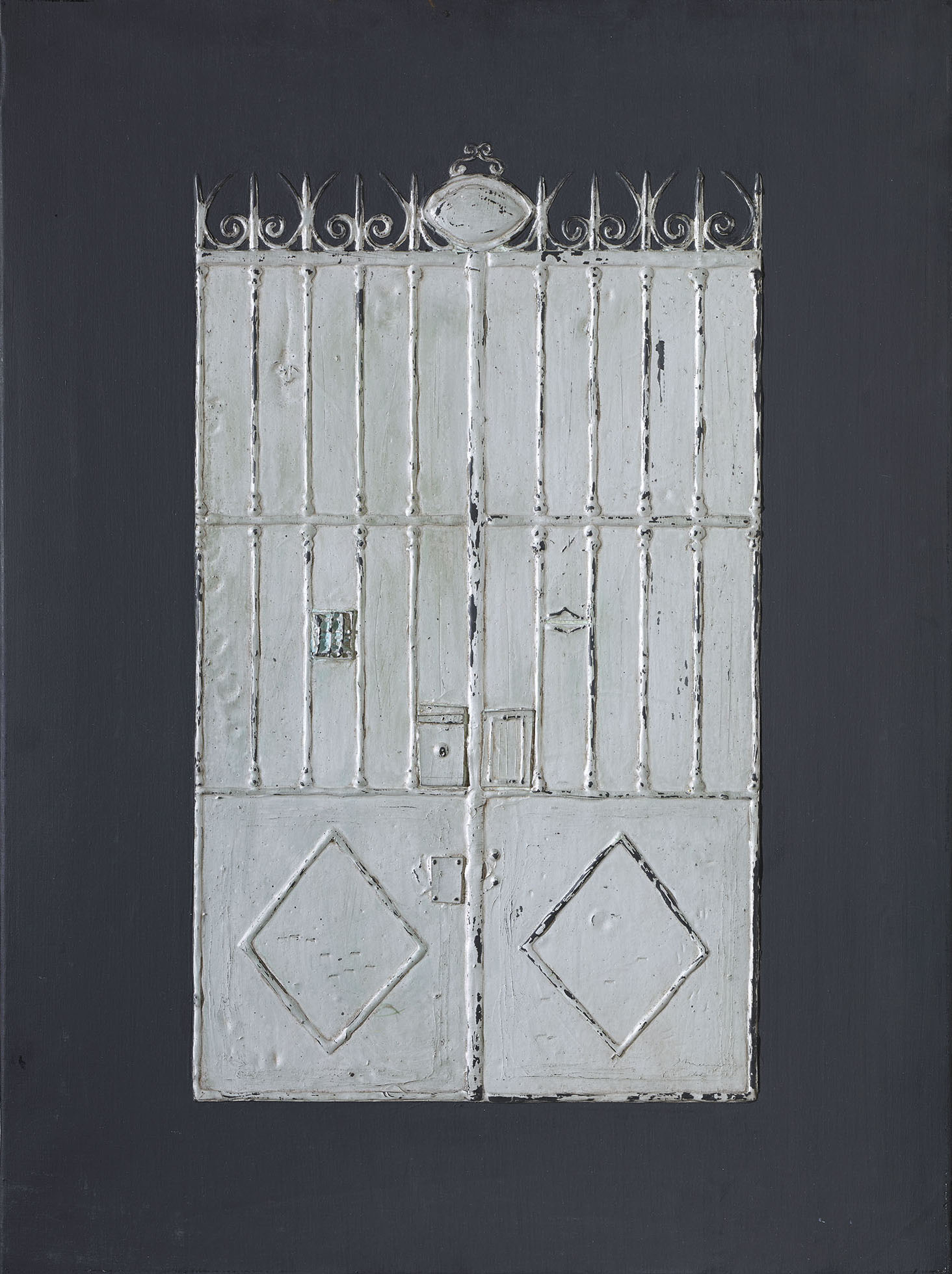 Door, 1962, mixed media on canvas, cm 73 x 54