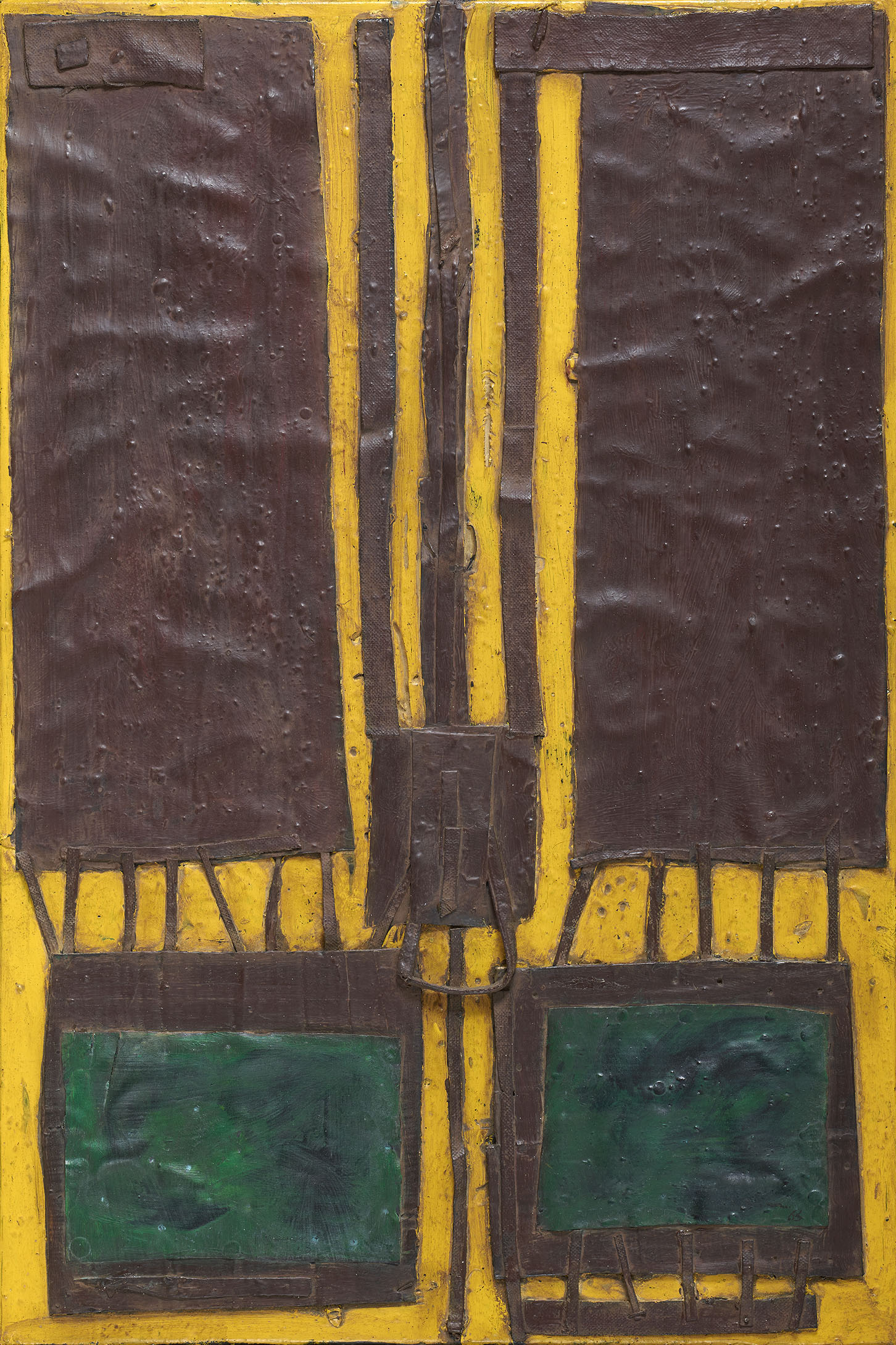 Door, 1963, mixed media on canvas, cm 80 x 54
