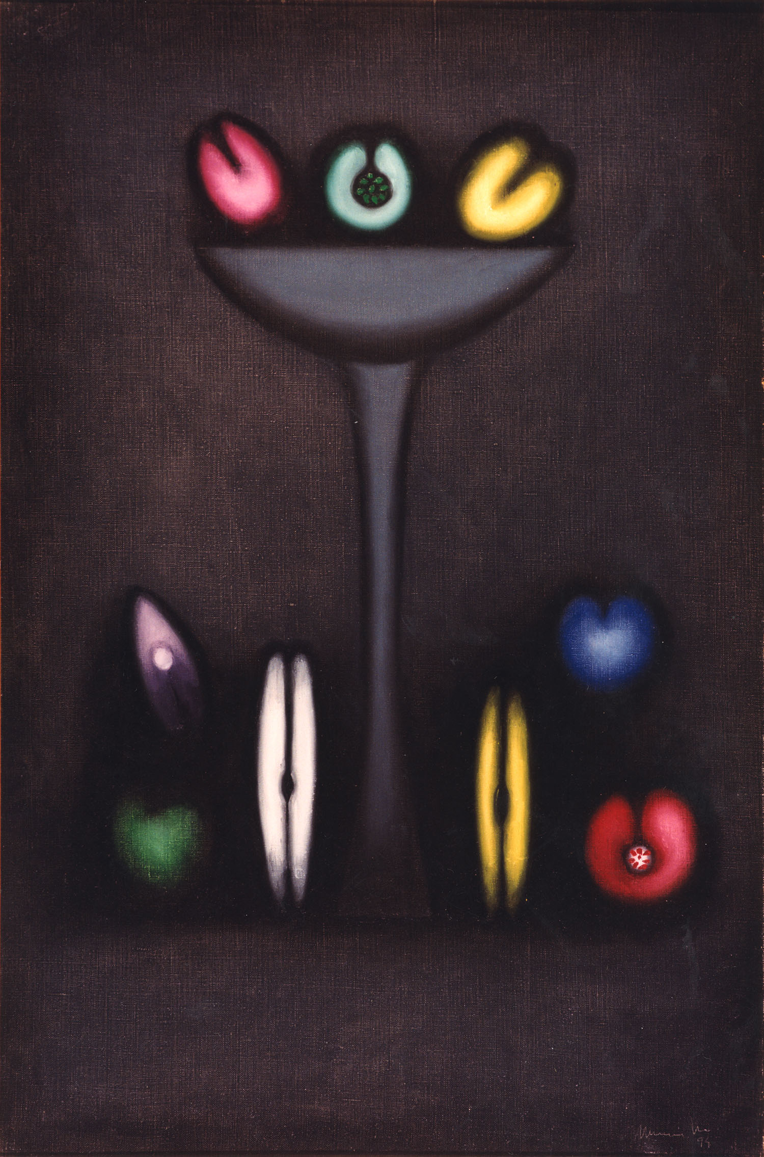 Mexican fruits, 1994, oil on canvas, cm 97 x 130