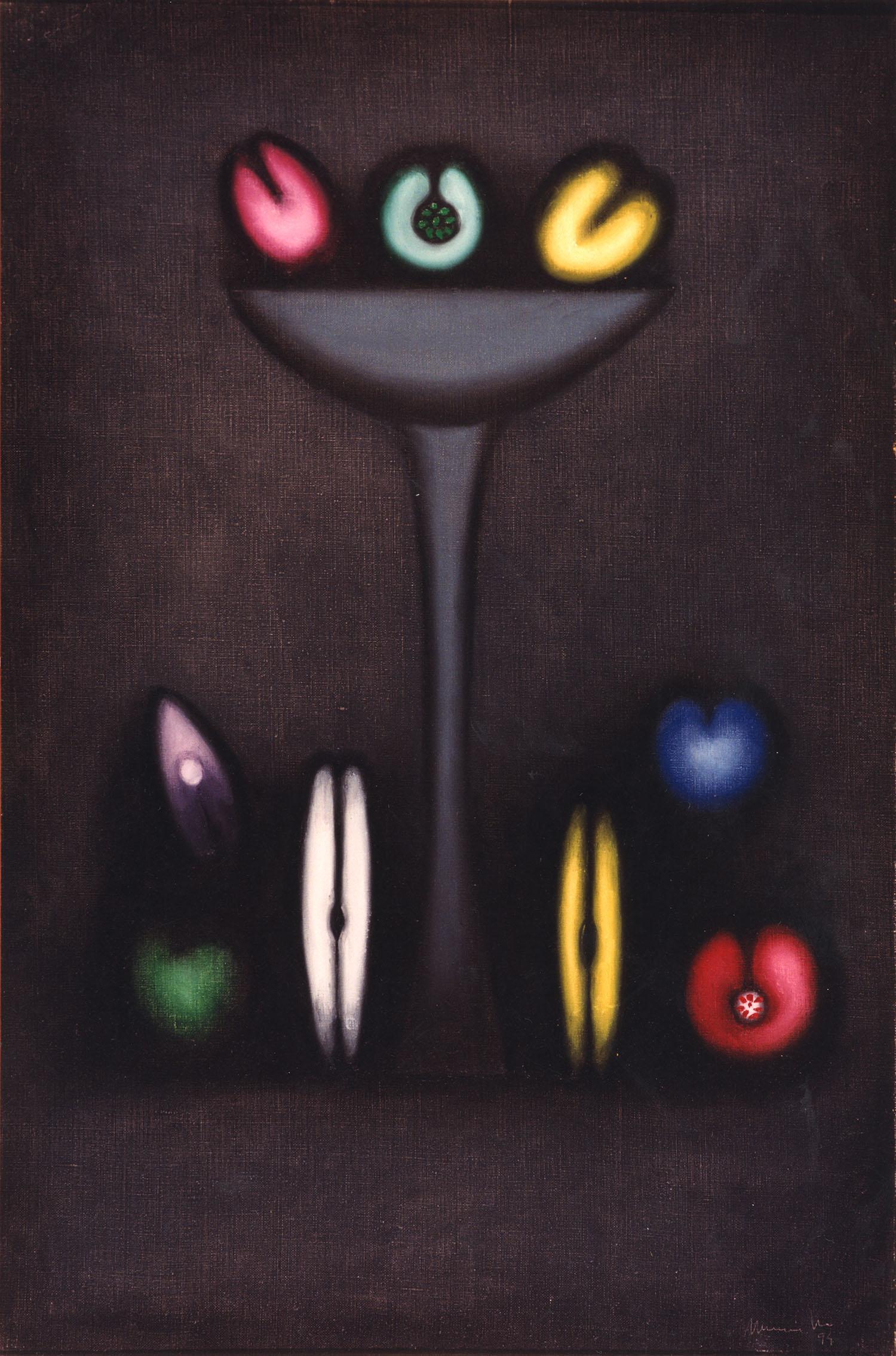Fruites mexicanes, 1994, oli sobre tela, cm 97 x 130