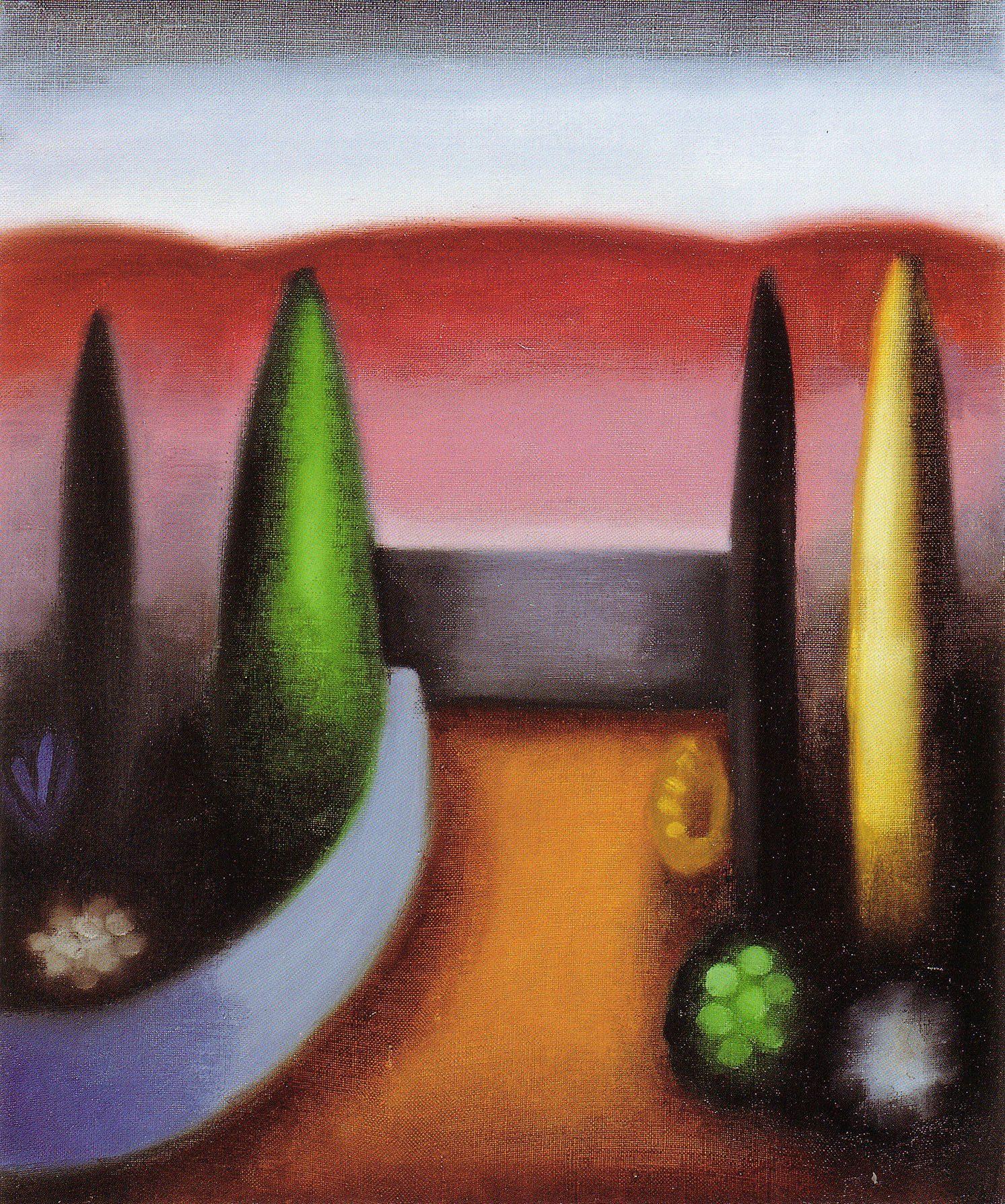 Paisaje, 1995, óleo sobre tela, cm 38 x 46