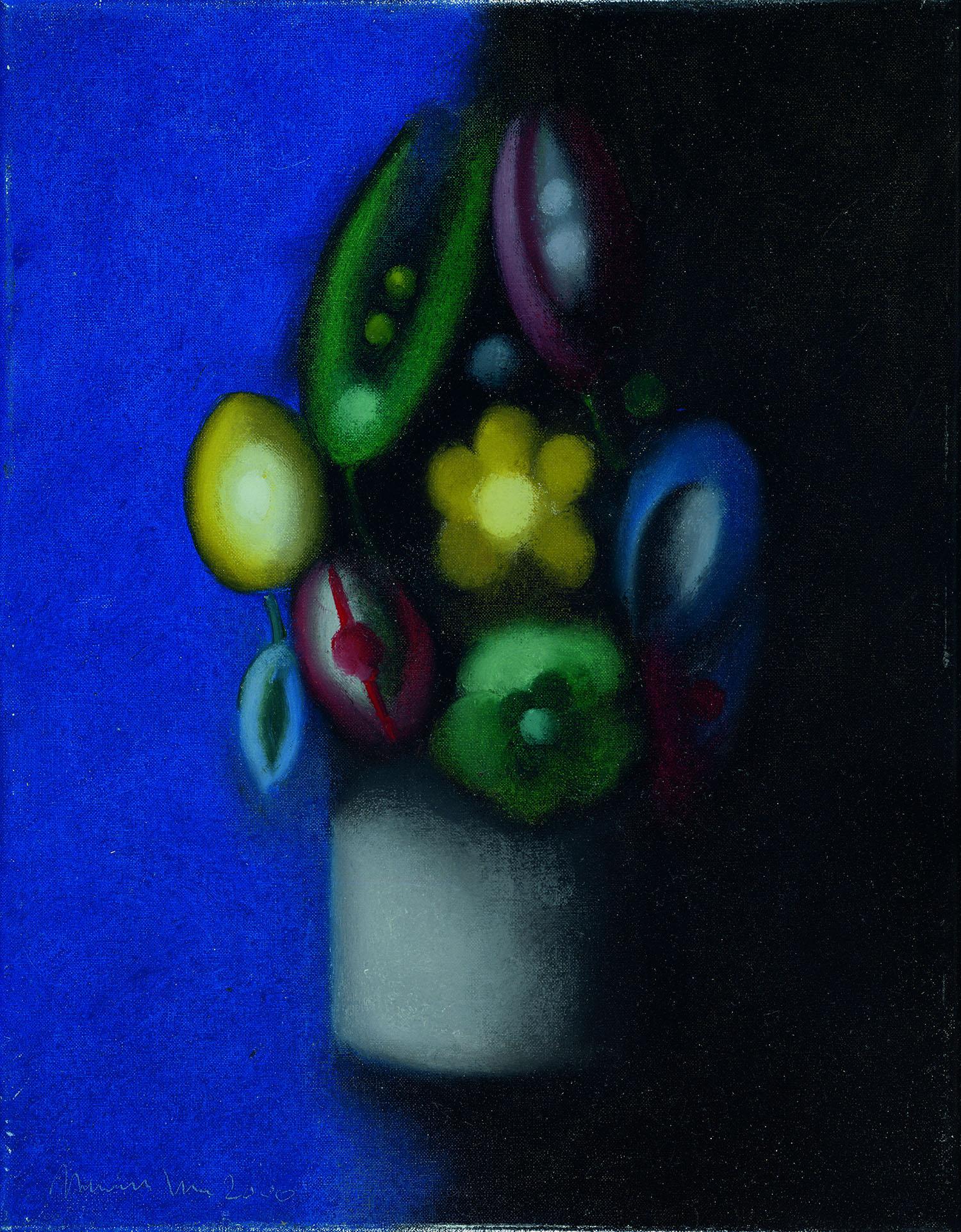 Flores mexicanas, 2000, óleo sobre tela, cm 46 x 33
