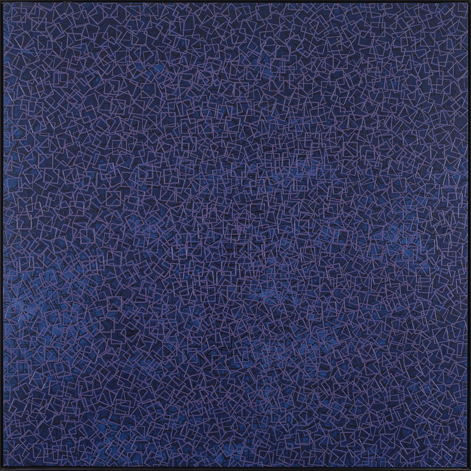 Kinetic composition, 1974, oil on canvas, cm 125 x 125