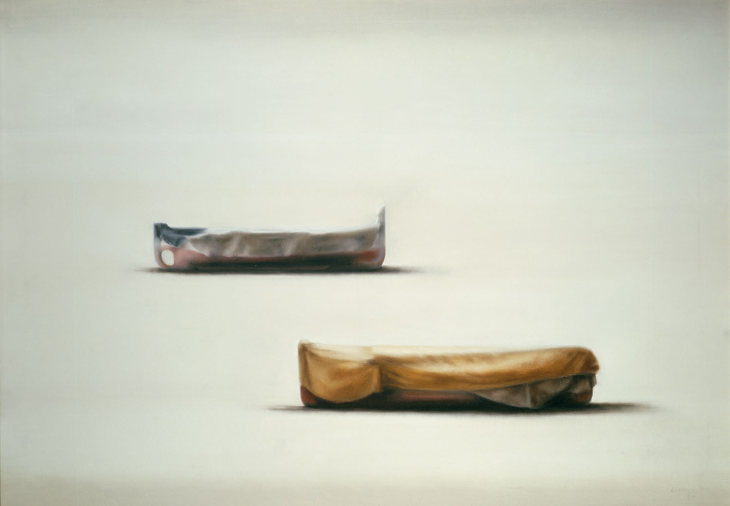 Boats, 1986, oil on canvas, cm 114 x 162