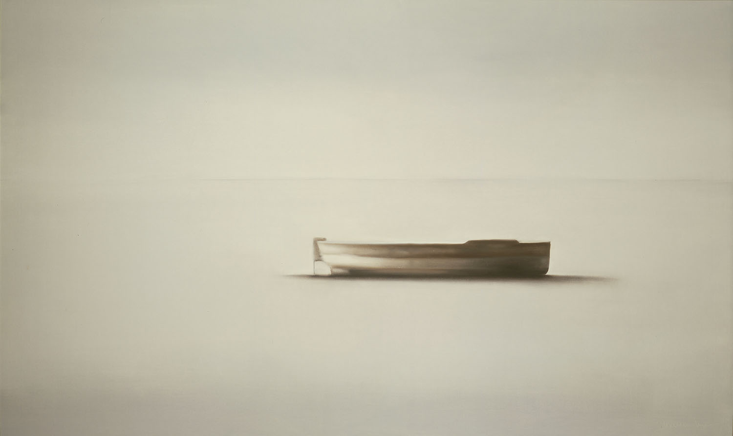 Boat, 1986, oil on canvas, cm 97 x 160