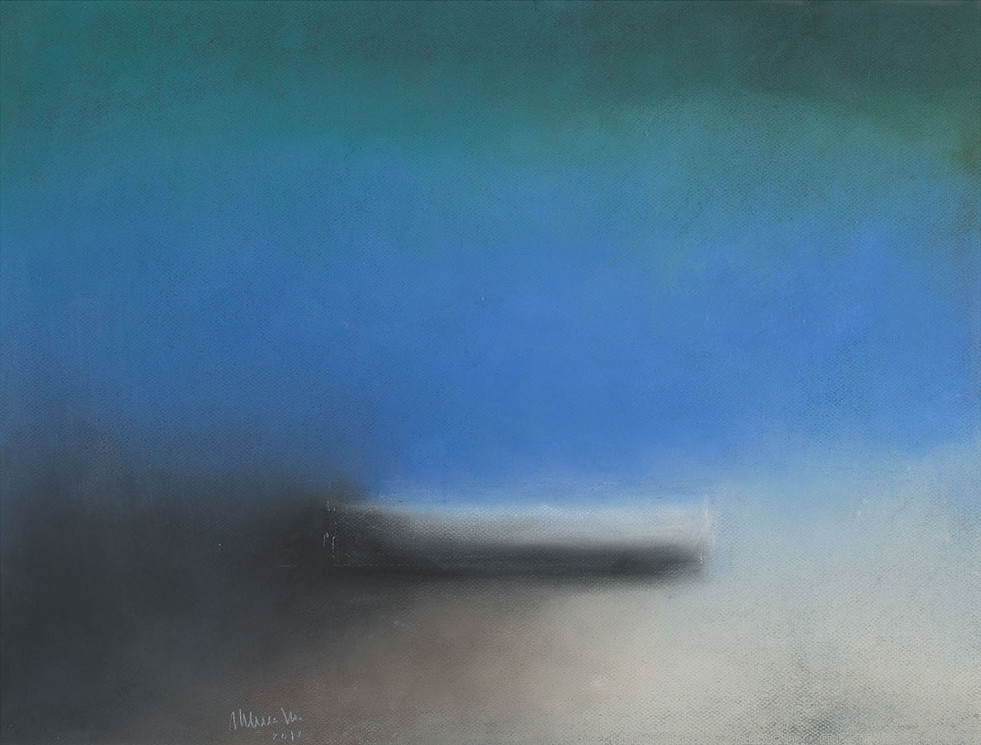 Daydream (boat), 2012, pastel on paper, cm 50 x 65