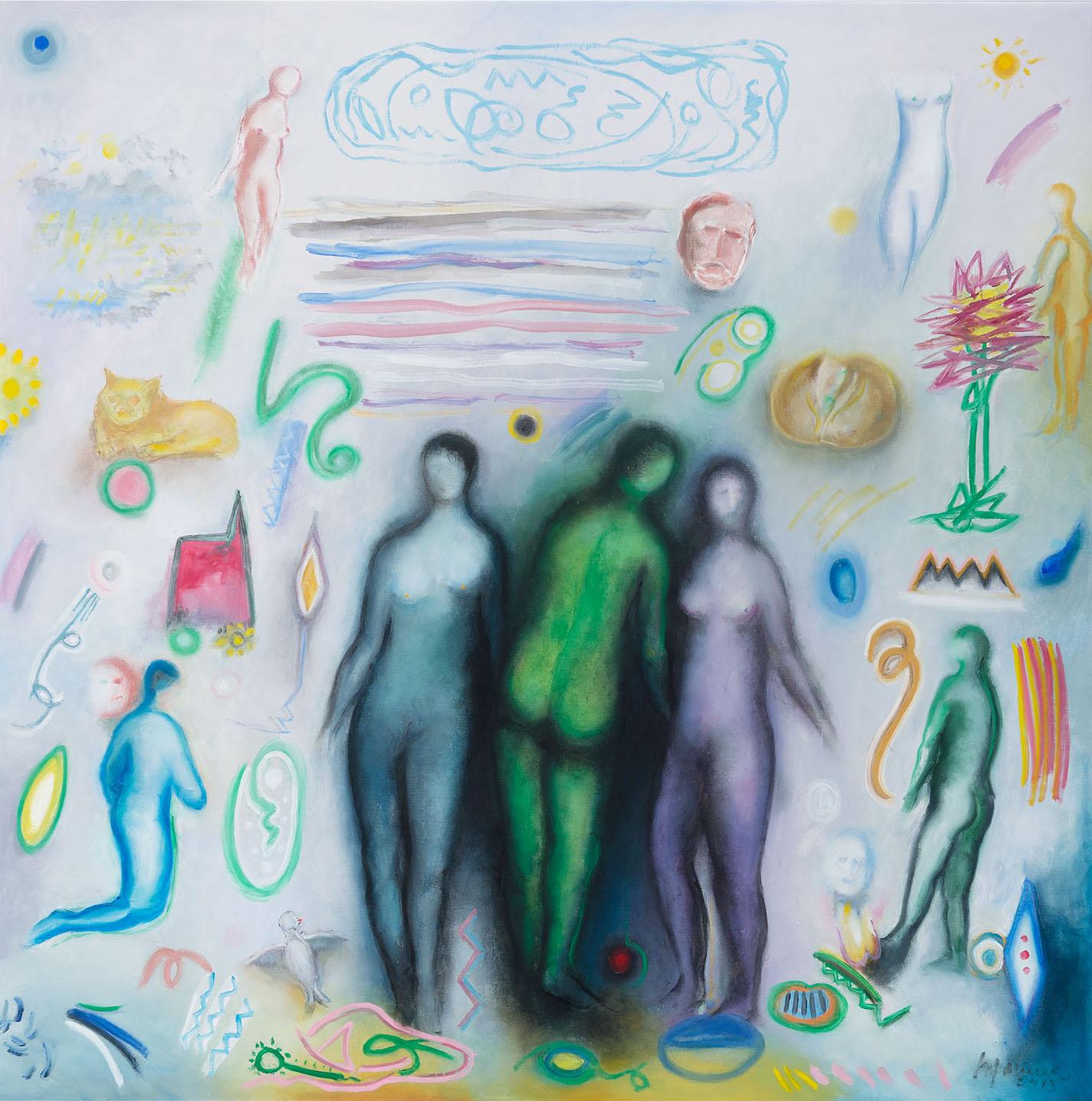 Daydream, 2013, oil on canvas, cm 125 x 125