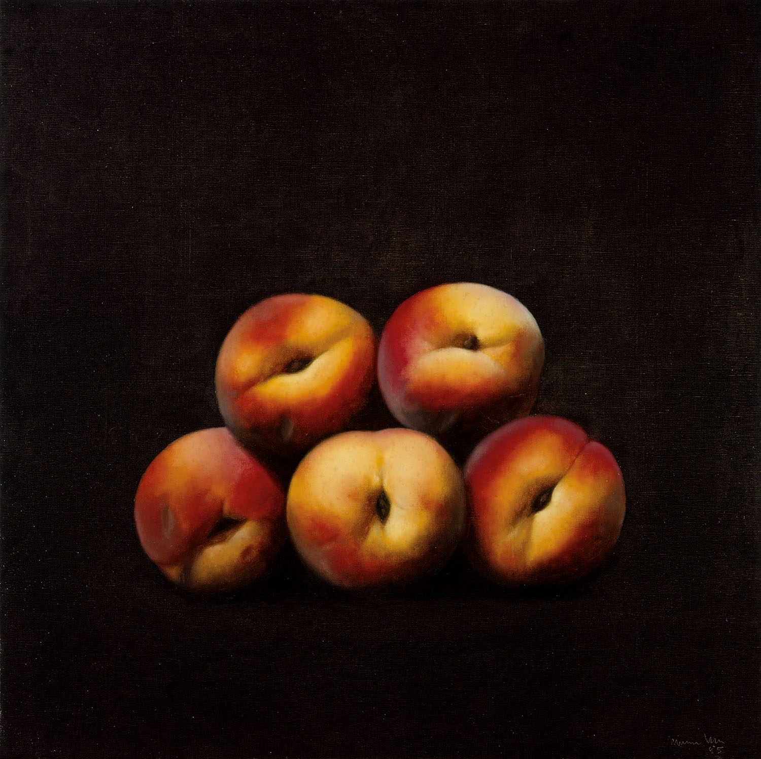 Fruits, 1985, oil on canvas, cm 110 x 110