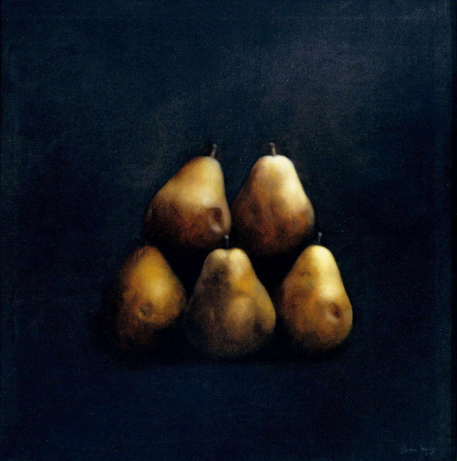 Fruits, 1985, oil on canvas, cm 100 x 100