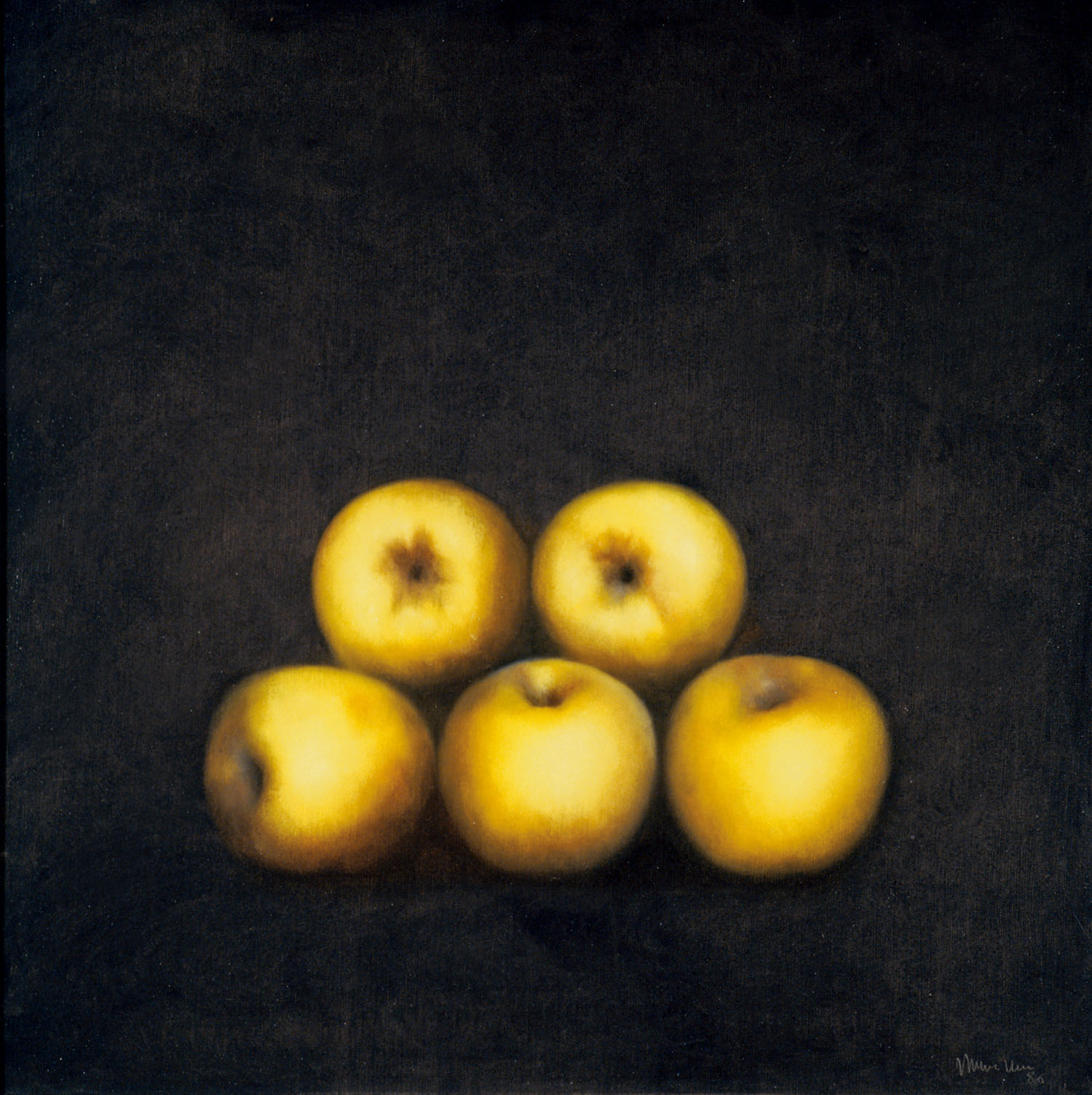 Fruits, 1986, oil on canvas, cm 100 x 100