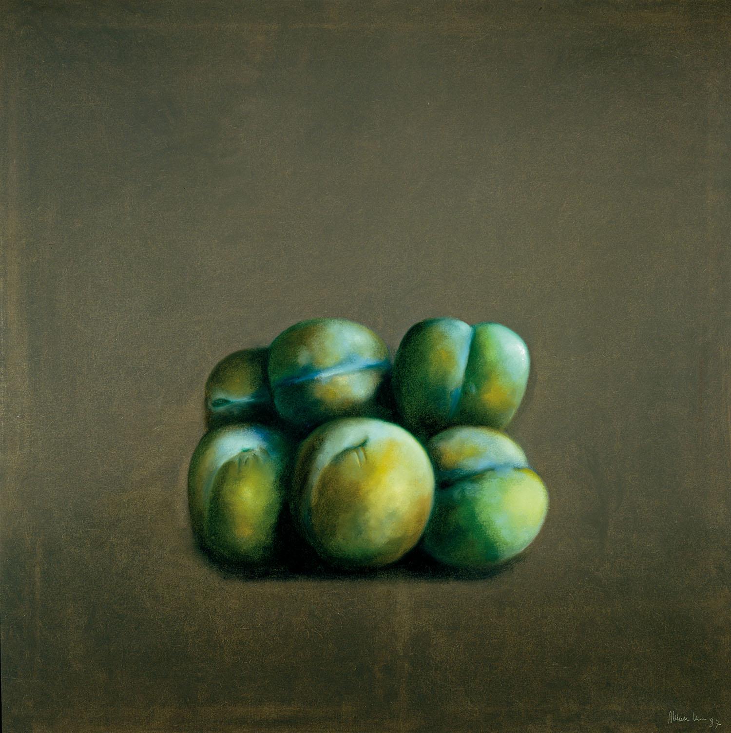 Fruites, 1987, oli sobre tela, cm 130 x 130