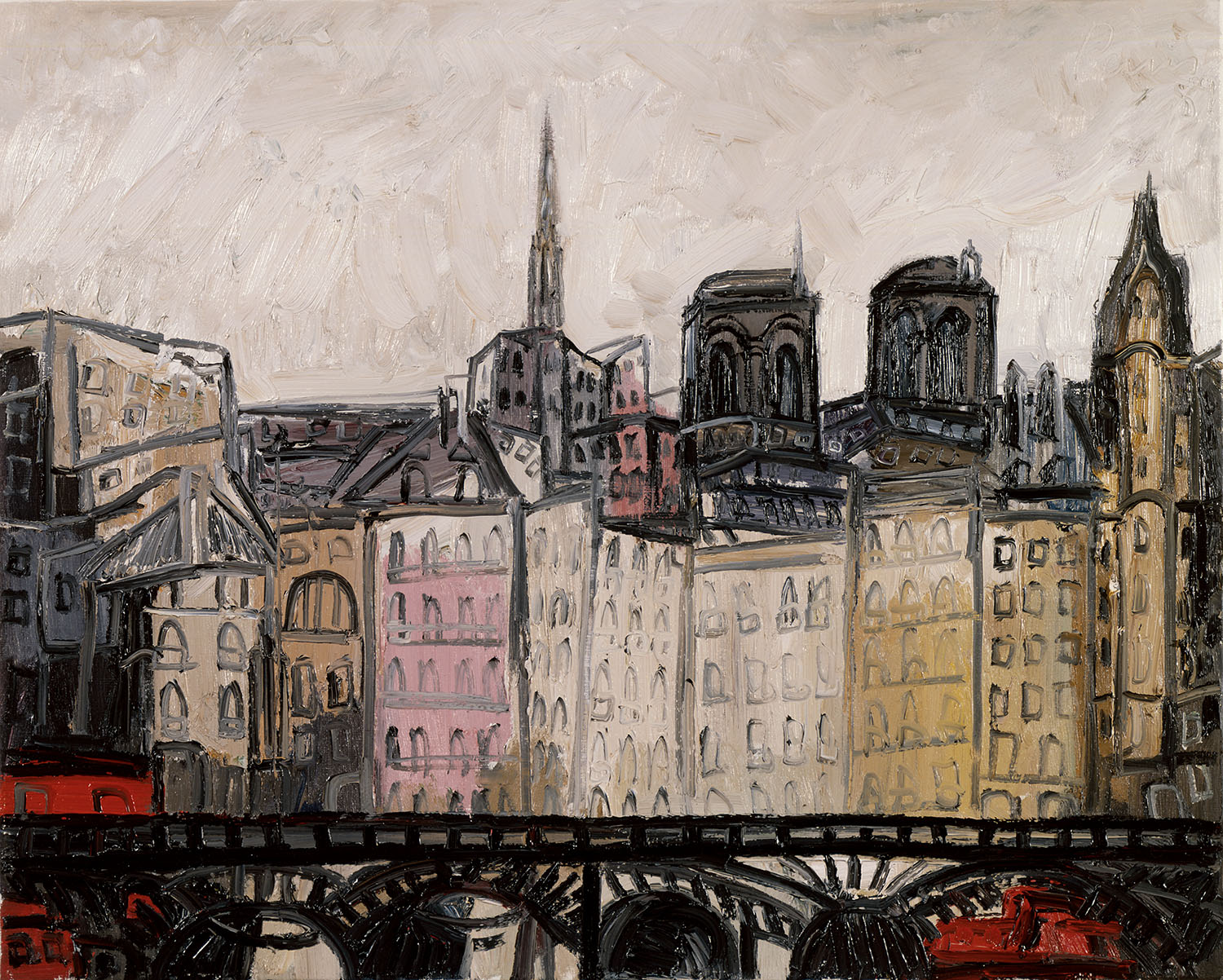 Paris, 1989, oil on canvas, cm 73 x 92