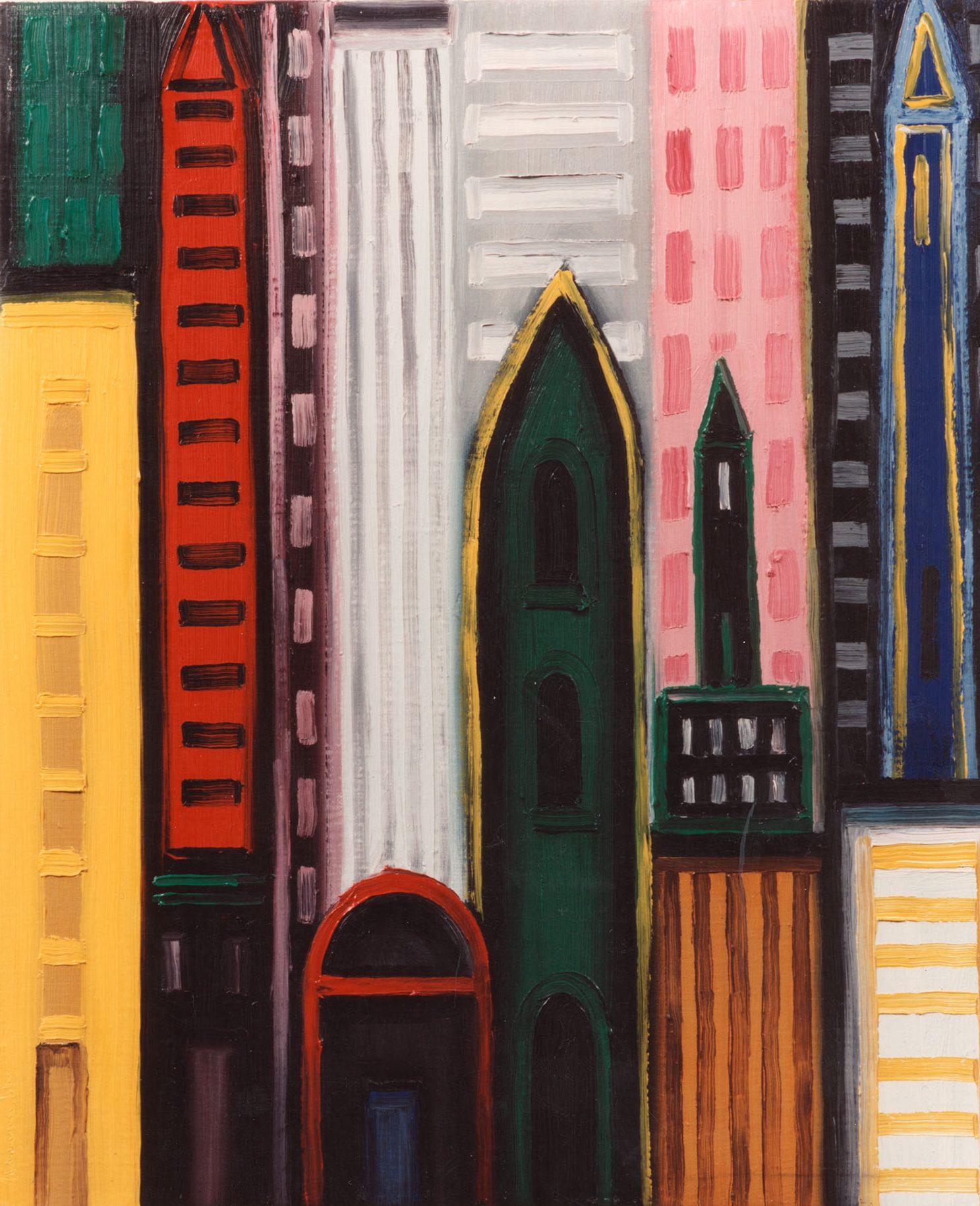 New York, 1992, oil on canvas, cm 55 x 46