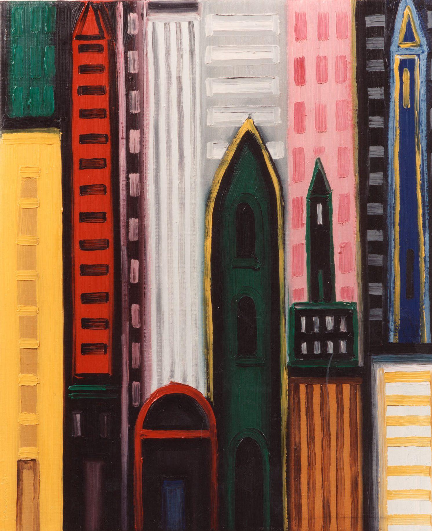 New York, 1992, oli sobre tela, cm 55 x 46