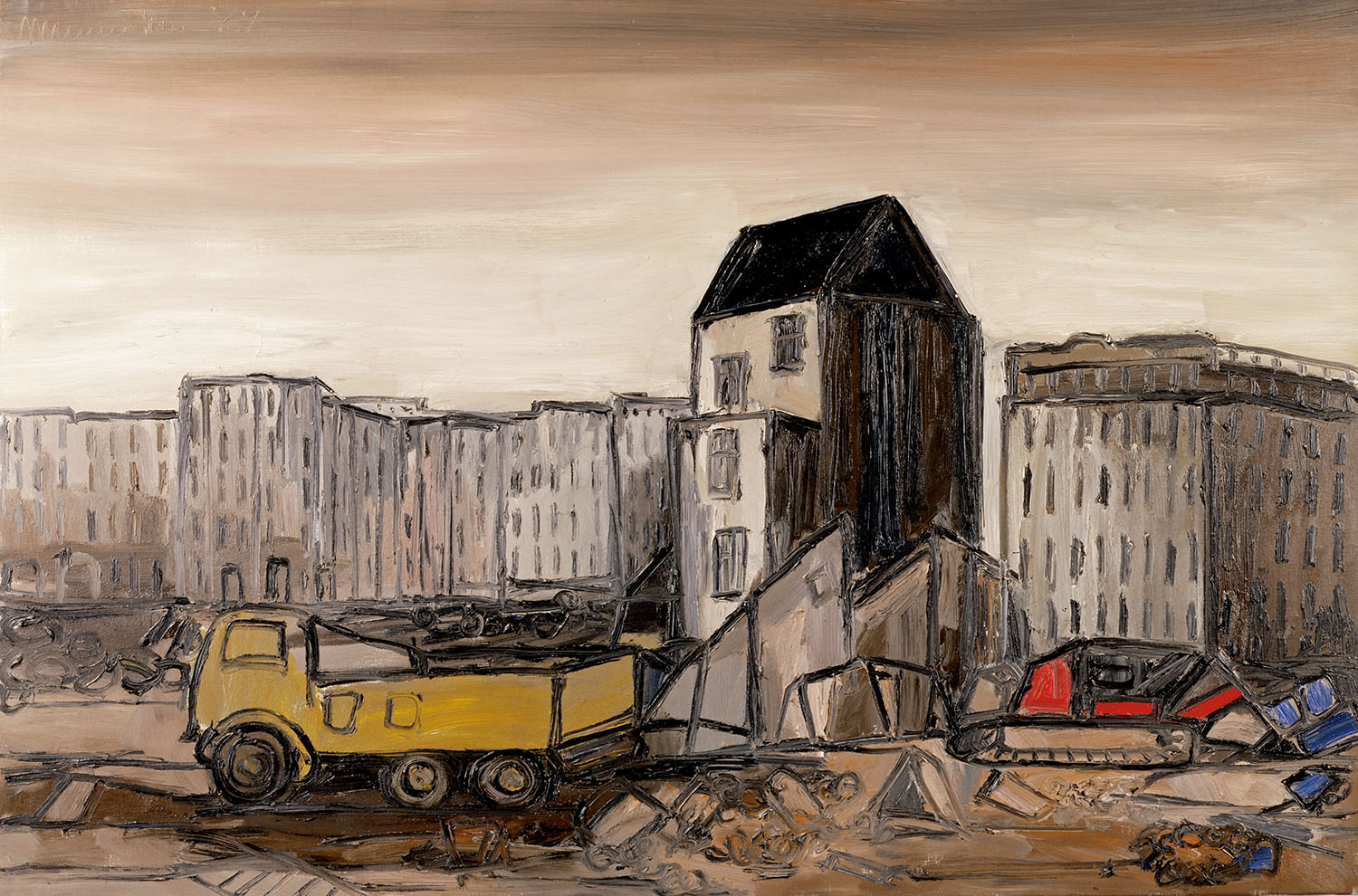 Paris, 1989, oil on canvas, cm 97 x 146