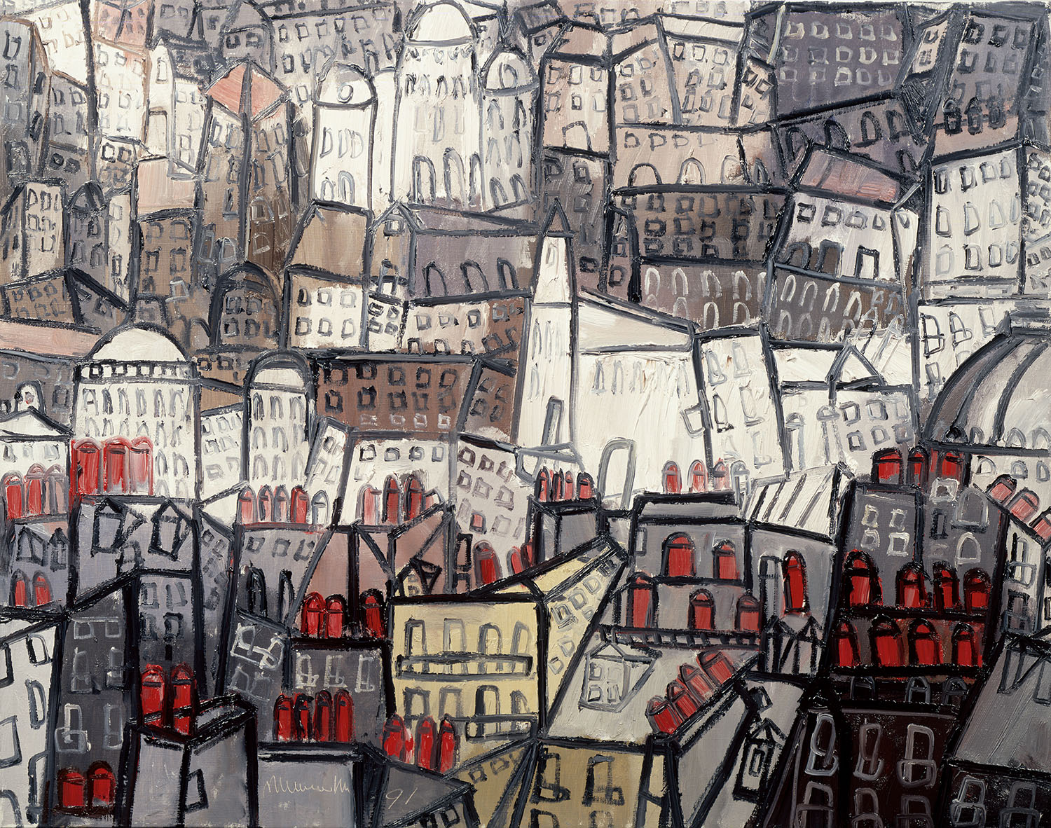Paris, 1991, oil on canvas, cm 73 x 92