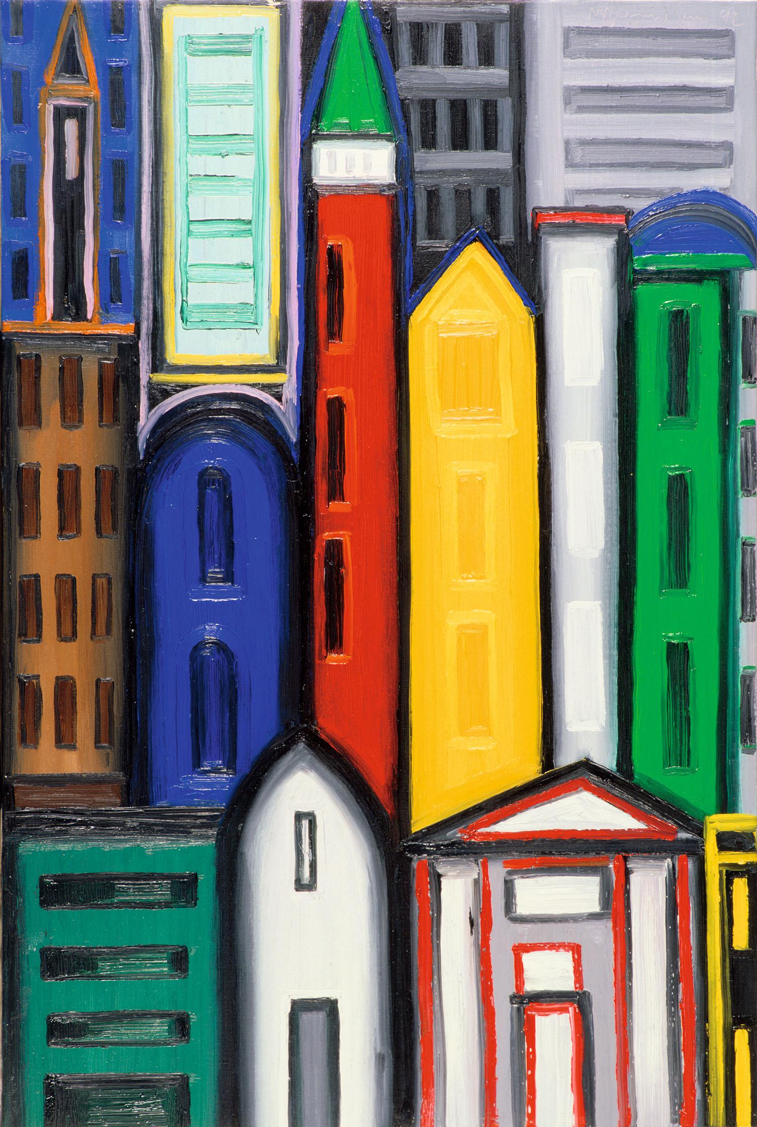 New York, 1992, óleo sobre tela, cm 81 x 54