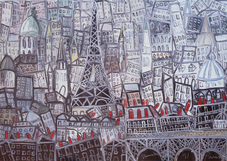 Paris, 1991, óleo sobre tela, cm 65 x 92