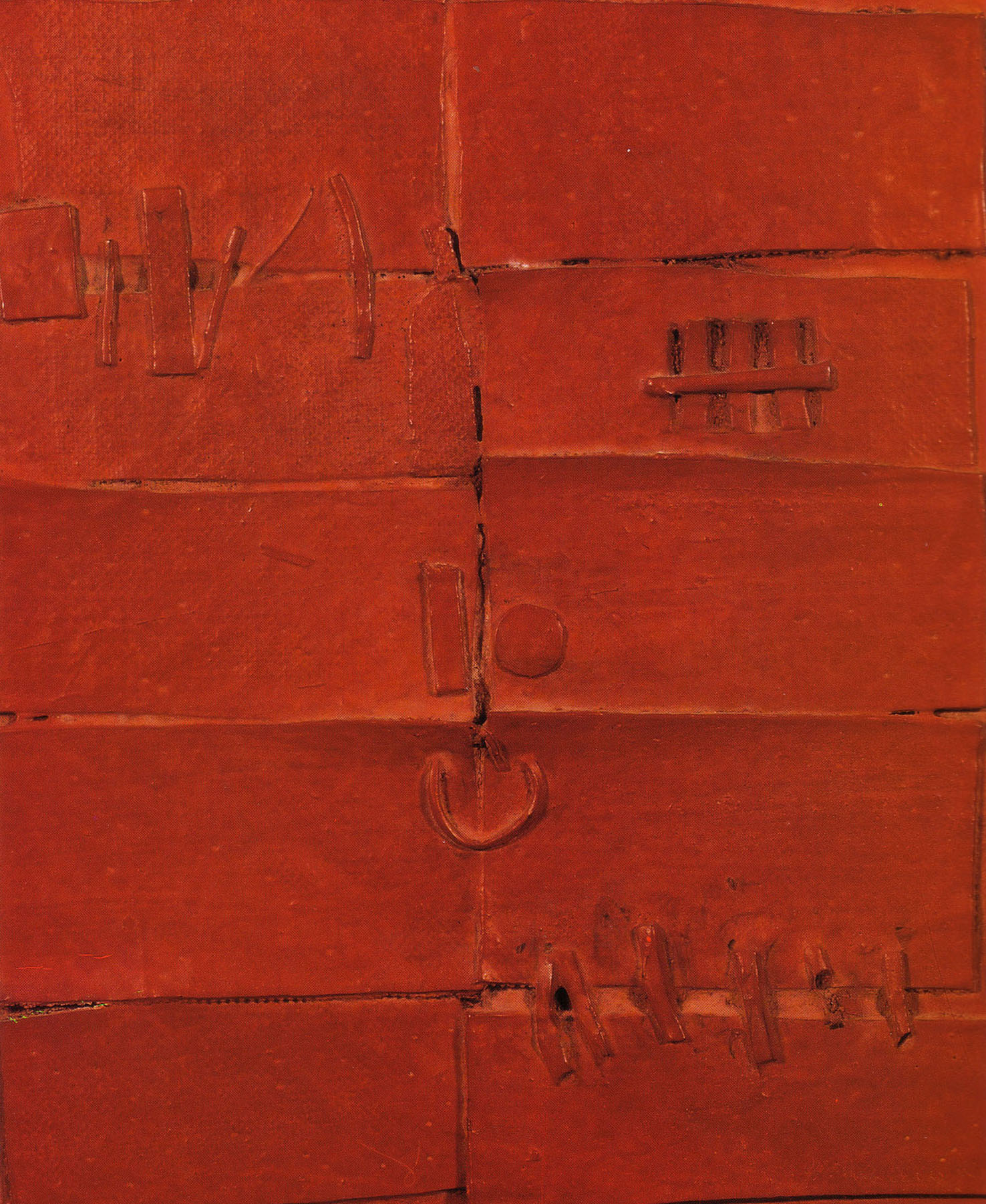 Door, 1961, mixed media on canvas, cm 28 x 24
