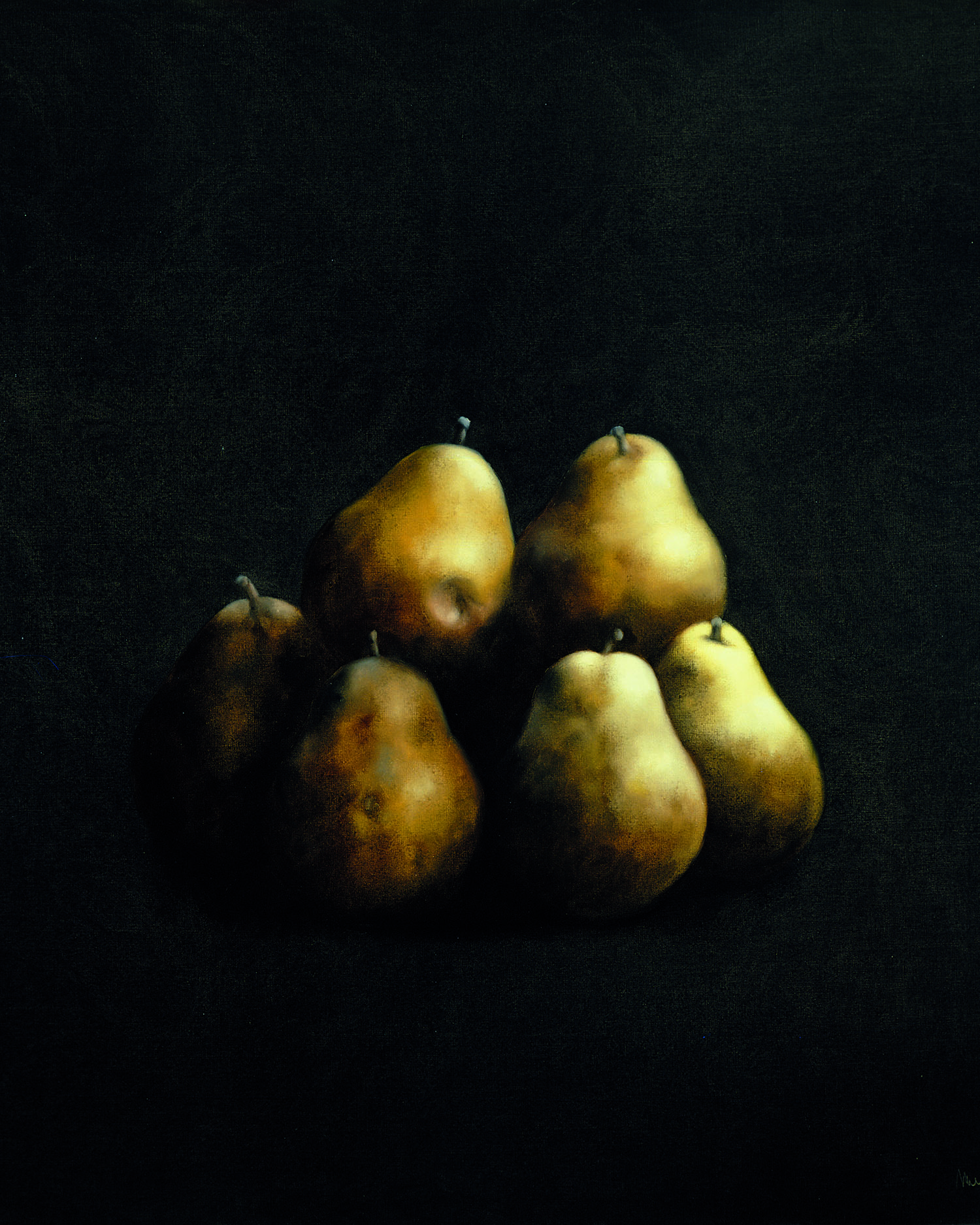 Pear. Josep Navarro Vives. 1984, oil on canvas, cm 100 x 100.