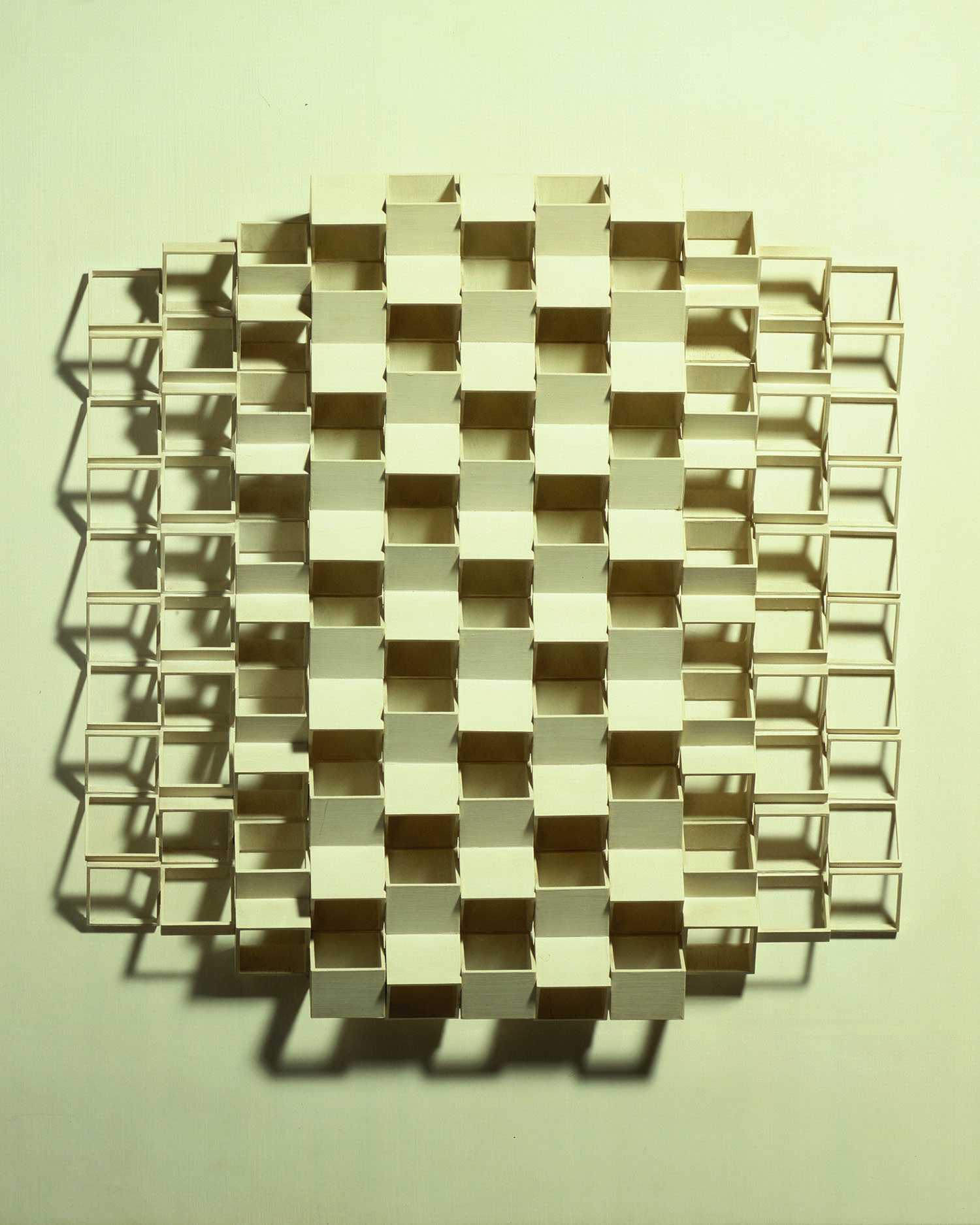 Composición Geomètrica. Josep Navarro Vives. 1971, Tecnica mixta sobre tela, cm 70 x 70..