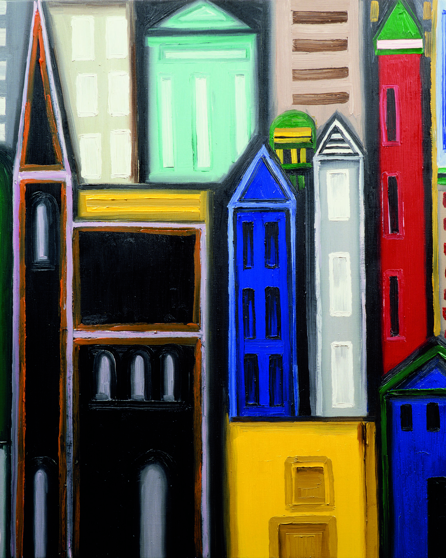 City. Josep Navarro Vives. 1992, oil on canvas, cm 81 x 100.